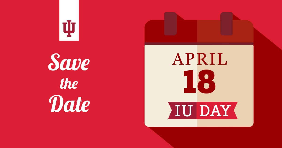 IU Day - Save the Date image for social sharing